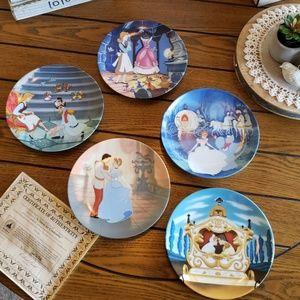 5 Walt Disney collector plates ~ Cinderella ~
